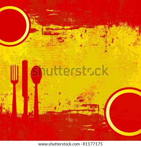 Spanish Menu template over flag of Spain - stock photo