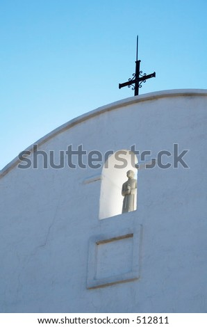 Spanish mission called White Dove of the Desert, near Tucson Arizona - stock photo