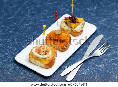 spanish snack tapas stock photo royalty free 607604684 shutterstock