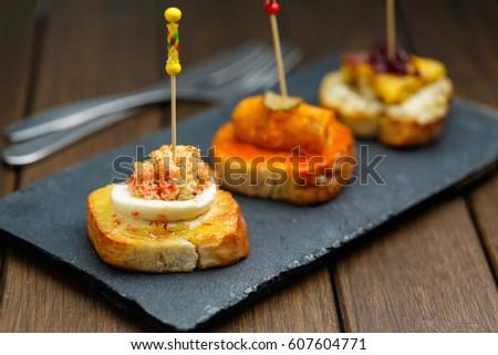 spanish snack tapas stock photo royalty free 607604771 shutterstock