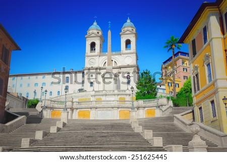 Spanish Steps - stock photo
