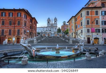 Spanish Steps in Rome. Italy. - stock photo