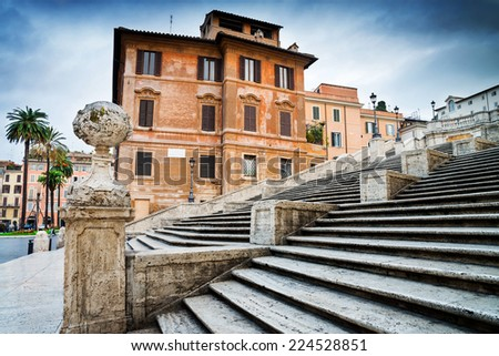 Spanish Steps in Rome, Italy - stock photo