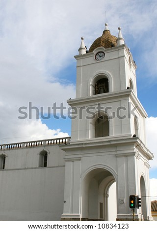 Spanish Style Bell Tower In Latin America