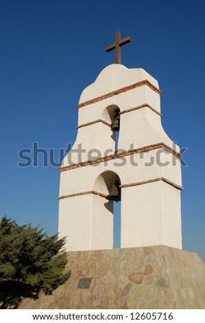 Spanish-style bell tower; Redlands, California
