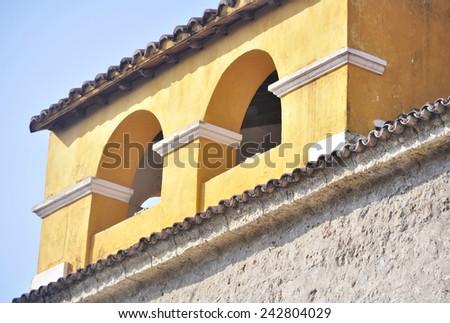 Spanish style building - stock photo