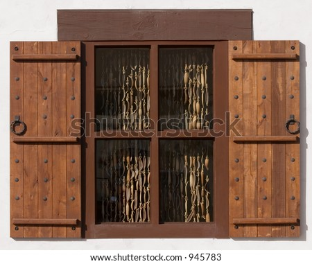 Stock images similar to id 100999996 spanish style white large home for Arts and crafts exterior shutters