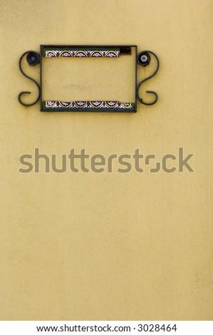 Spanish styled door in St. Augustine, Florida - stock photo