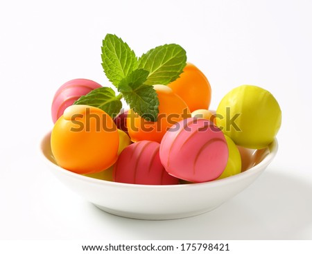 Spanish sweets with fruit flavour - stock photo