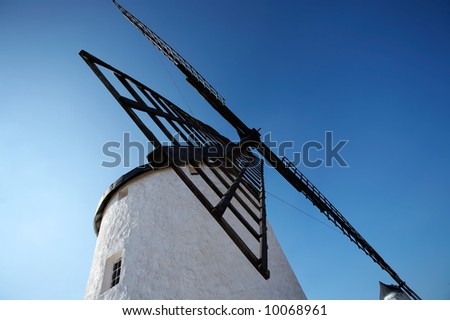 Spanish windmill in Castilla - stock photo