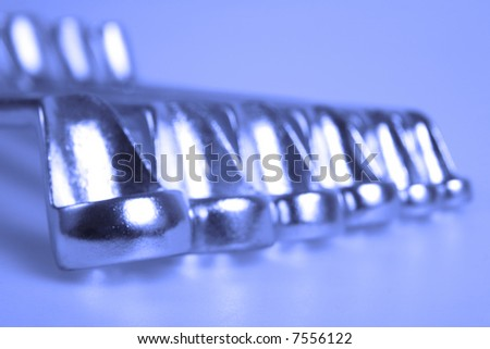 Spanners - stock photo