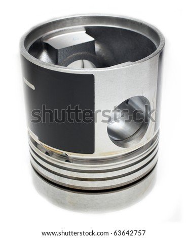 spare parts- engine piston - stock photo