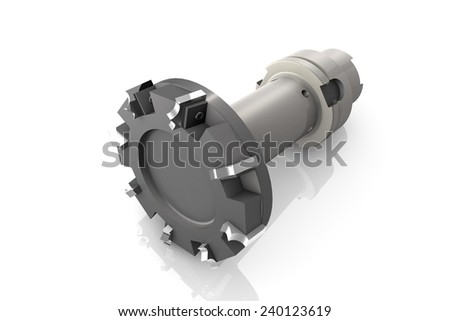 Spare parts for milling machine - stock photo
