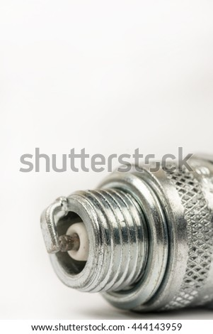 Spark plug with copy space - stock photo
