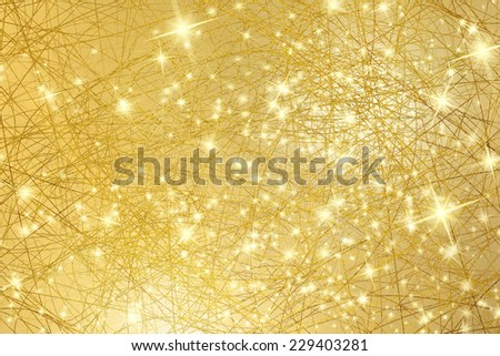 Sparkle background - gold texture with stars - abstract Christmas lights