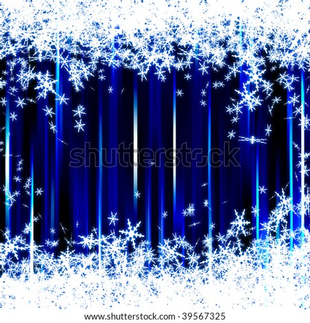 sparkle blue xmas background - stock photo