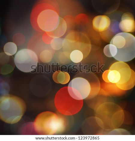 Sparkle blurred night city lights - abstract background - stock photo