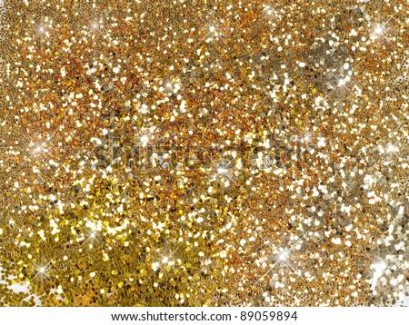 sparkle glitter gold background - stock photo
