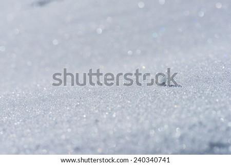 Sparkle of snow - stock photo