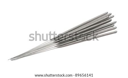 sparkle sticks isolated on white - stock photo