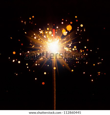Sparkler Close-Up - stock photo