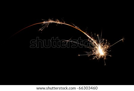 Sparkler falling star - make a wish ) - stock photo