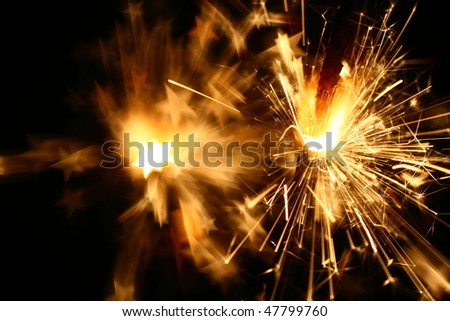 sparkler fire - stock photo