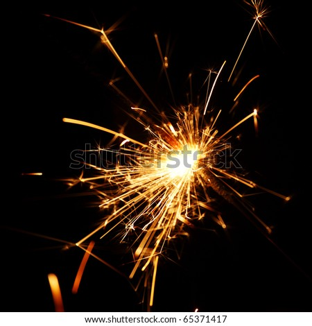 sparkler macro - stock photo