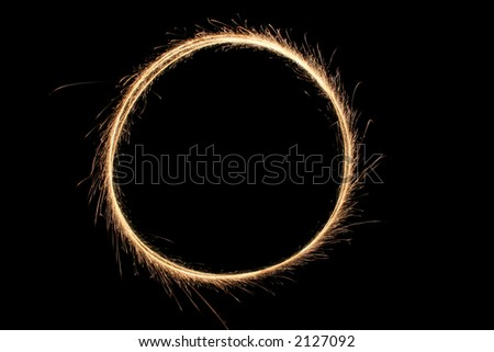 sparkler ring - stock photo