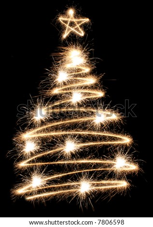 sparkler tree - stock photo