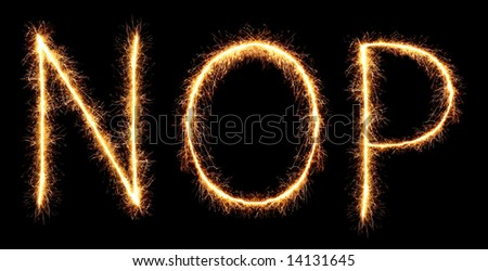 sparklers forming letters, N O P  (see more letters in my portfolio)