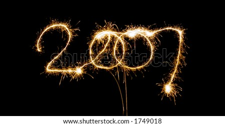 sparkling 2007 - stock photo