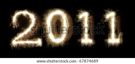 Sparkling 2011 - stock photo