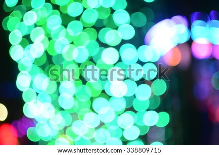 sparkling and defocused lights background , Green Bokeh background - stock photo