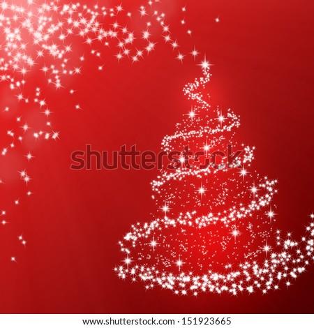 Sparkling Christmas tree - stock photo