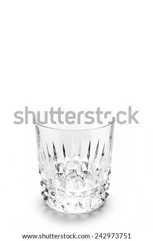 Sparkling clear glass isolated on white - stock photo