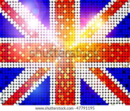 sparkling flag of united kingdom - stock photo