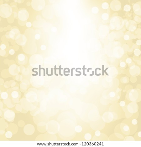 Sparkling gold seasonal holiday background with white lights. - stock photo
