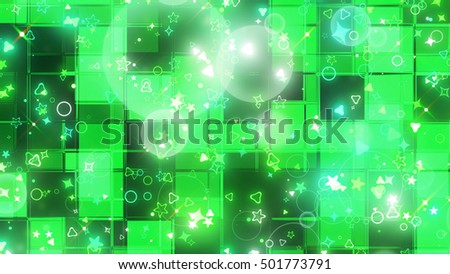 sparkling graphic particles. 3d illustration, 3d rendering