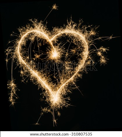 Sparkling Heart  - stock photo