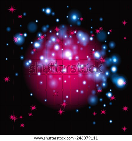 Sparkling nights sky with stars and dark space view  - stock photo