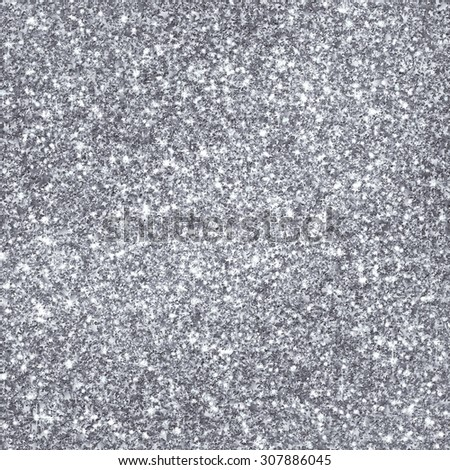 Sparkling Stars Background Texture - Silver Backdrop Illustration - Packaging - Gift Wrap Paper - stock photo