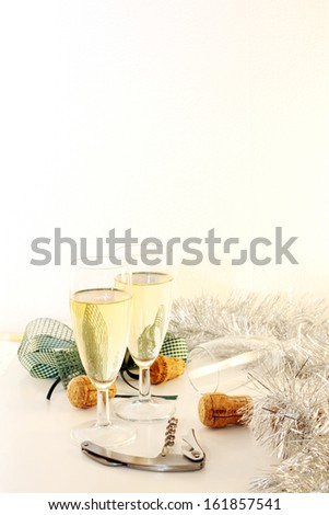 Sparkling wine for new years eve - stock photo