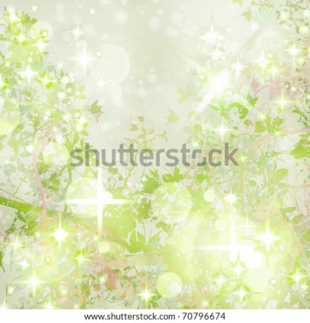 Sparkly Garden Art Textured  Background - stock photo
