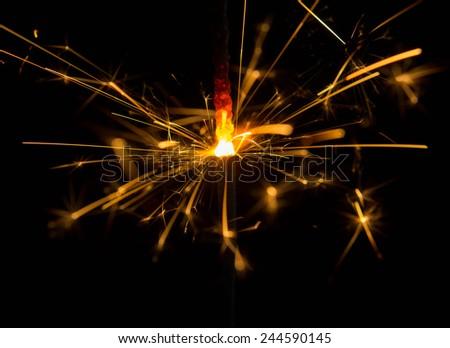 Sparks in the dark  - stock photo