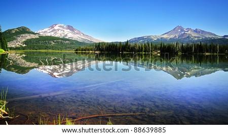 Sparks lake Reflection - stock photo