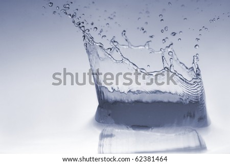 Sparks of blue water - stock photo