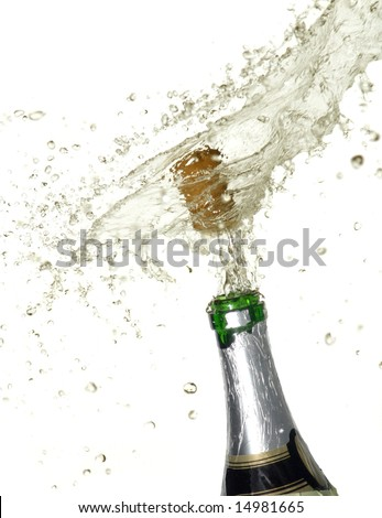 Sparks of champagne