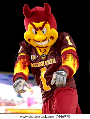 Sparky rallies the ASU crowd