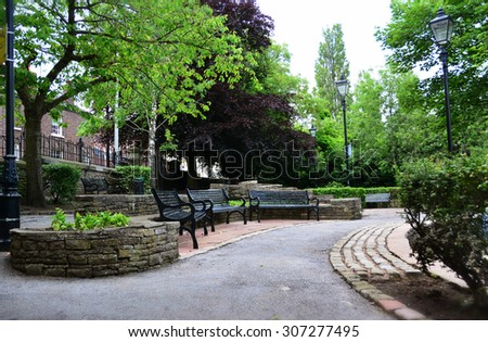 Sparrow park, Macclesfield, Cheshire - stock photo